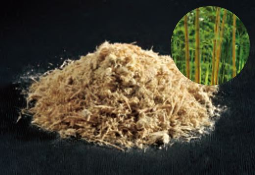 雑草アタックαの素材、竹繊維