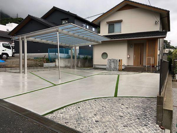 駐車スペース工事(北九州市門司区 O様邸)